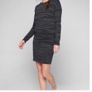 Athleta Avenue dress in grey, ruched sides
